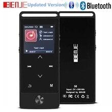 Yeni MP3 oynatıcı Bluetooth ile taşınabilir müzik çalar FM radyo ile kulaklık, dokunmatik düğme HiFi kayıpsız Metal ses çalar