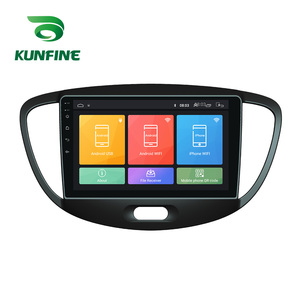 Octa Core Android 10.0 Car DVD GPS Navigation Player Deckless Car Stereo For HYUNDAI I10 2008-2012 Radio Headunit