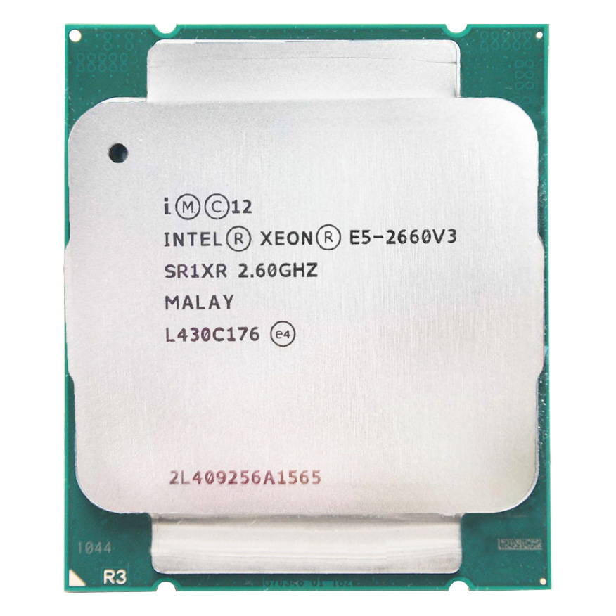 Intel Xeon <font><b>E5</b></font> <font><b>2660</b></font> <font><b>V3</b></font> <font><b>E5</b></font> 2660V3 <font><b>E5</b></font>-<font><b>2660</b></font> <font><b>V3</b></font> <font><b>E5</b></font>-2660V3 Processor 2.6Ghz turbo frequency 3.3Ghz 10 Core 105W LGA 2011-3 CPU image