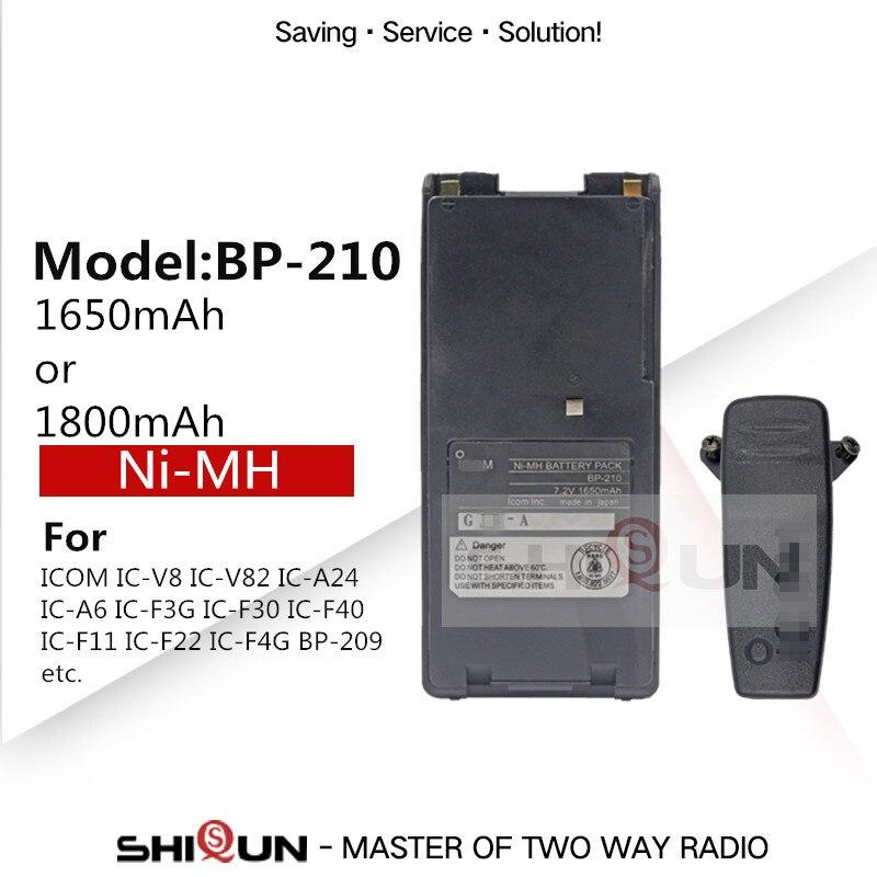 BP210 BP-210N BP-210 BP-209 NI-MH Battery Compatible With IC-V8 IC-V82 IC-A24 IC-A6 IC-F3G IC-F30 IC-F40 IC-F11 IC-F22 IC-F4G