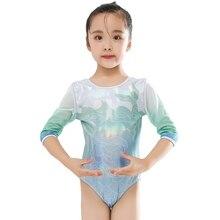 Children's Ballet Costumes Kids Long Sleeve Dance Bodysuit Gymnastics Leotard Girls Ballet Tutu Dancewear Dancing Clothes