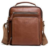 New 2019 Men's Fashion Travel Cool Canvas Bag Men handbag in genuine leather Shoulder Bags Pack School Bags for Teenager