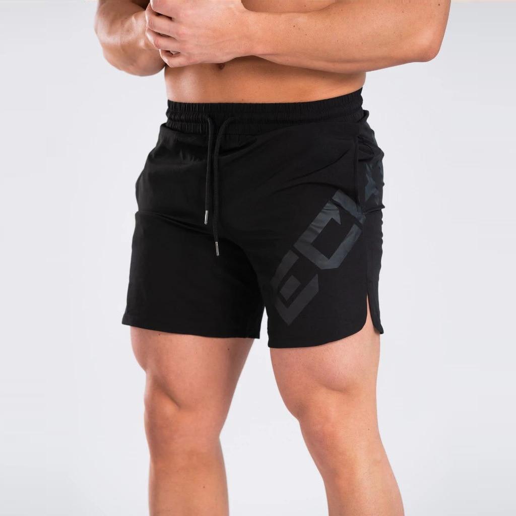 Mens Shorts  Men Casual Beach Shorts Bodybuilding Fitness Short Sweat Quick Dry Big Letter Print