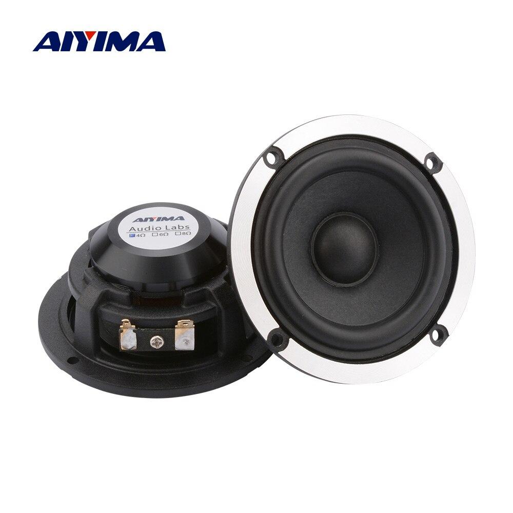 AIYIMA 2Pcs 3 Zoll Audio Lautsprecher 4 8 Ohm 15W Mitte Palette Auto Lautsprecher 20 Core Wolle Papier kegel Aluminium Neodym Lautsprecher