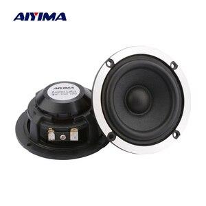 Image 1 - AIYIMA altavoz de Audio de 3 pulgadas, 2 uds., 4, 8 Ohm, 15W, gama media, para coche, cono de papel de lana de 20 núcleos, altavoz de neodimio de aluminio