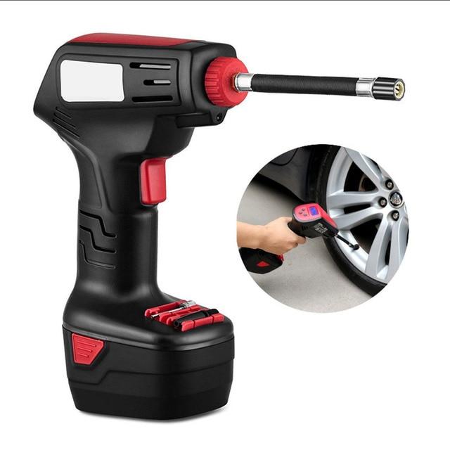 Pro Air Compressor Draadloze Draagbare Compressor Elektrische Inflator Portable Hand Held Pomp met Digitale LCD Auto Styling