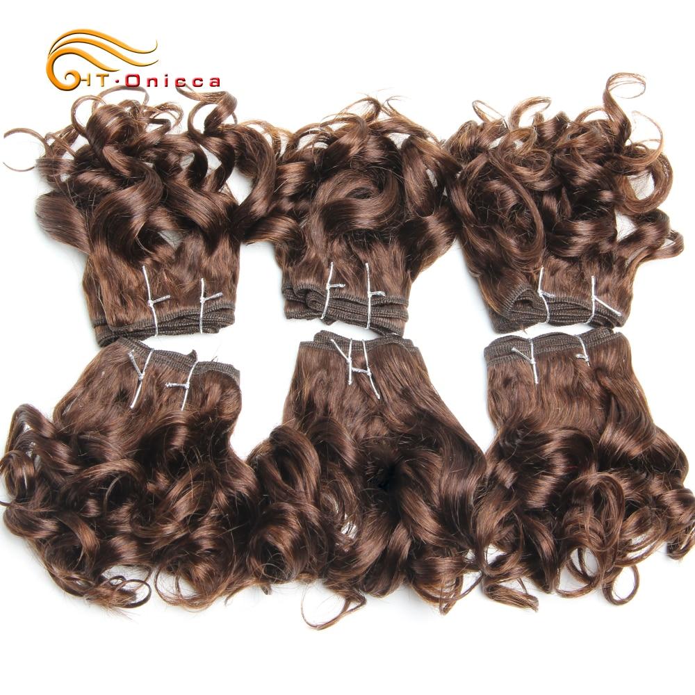 Vendors Wholesale Brazilian Hair Weave Bundles 6Pcs/Lot Curly Bundles Human Hair 8 Inch Colorful 1B 2 4 T1B/30/33/99J Htonicca