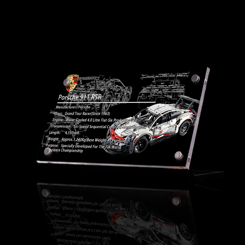 The Display Stand For Lego Porsche 911 Rsr Custom Acrylic Licence Super Set Buidling Block Toy For Children