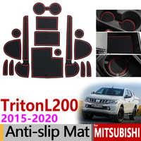 Tappetini anti scivolo per il Telefono Zerbino s per Mitsubishi L200 Triton Strada Strakar Barbaro Fiat Terzino RAM 1200 Accessori Adesivi Per Auto