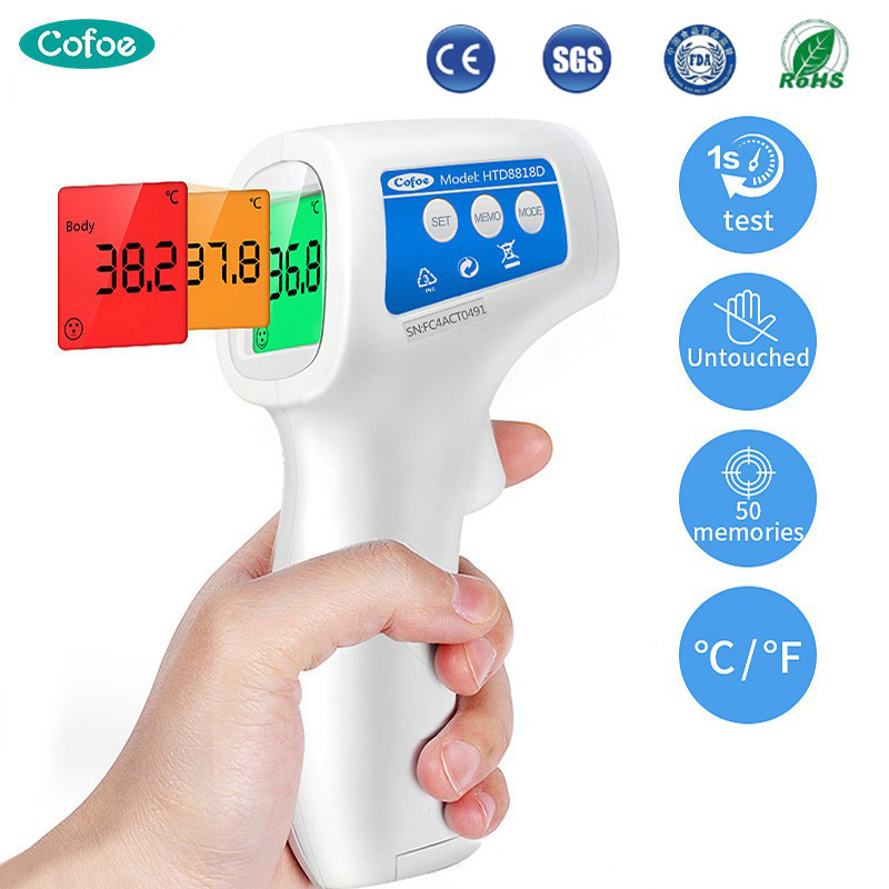 Cofoe Baby Forehead Infrared Thermometer Non-Contact Digita Fever Thermometer LCD Display Body/Object Temperature Measurement