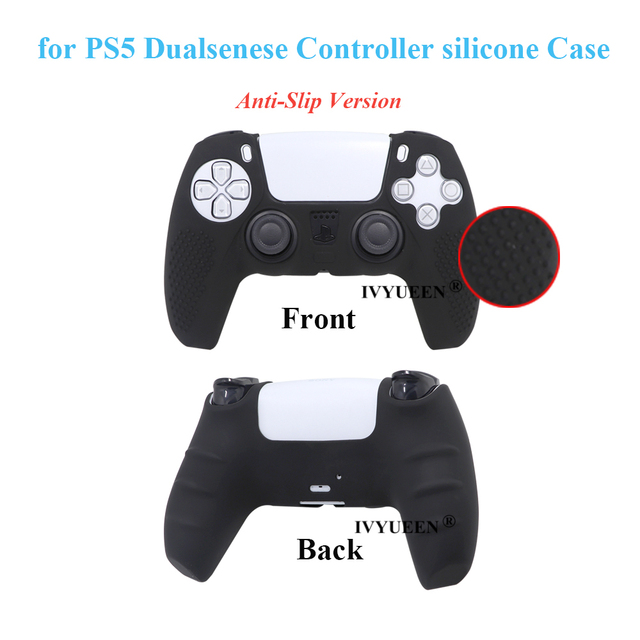 IVYUEEN Anti-slip Silicone Cover Skin for Sony PlayStation Dualshock 5 PS5 Controller Case Thumb Stick Grip Cap for DualSense 6