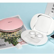 Contact-Lens Cosmetic Mini Portable Box Girl One Pebble Companion Double-Box Induction