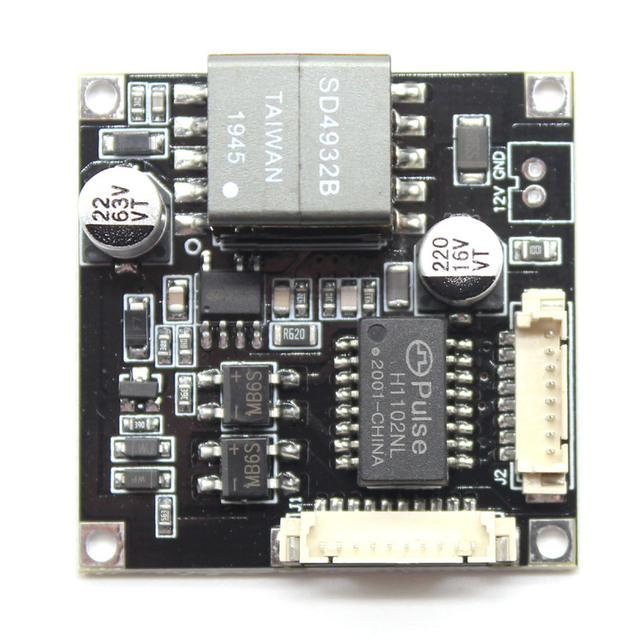 POE Module board for Security CCTV Network IP Camera H.265 8Pin Power Over Ethernet 12V output IEEE802.3af/at compliant