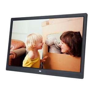 Digital-Photo-Frame Electronic-Album Led-Screen 17-Inches HD 1440--900 Touch-Buttons