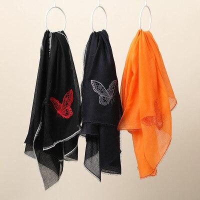 19 nouveau cachemire 200 fils papillon broderie décoratif châle climatisation chambre spéciale écharpe femme hiver modèles