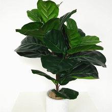 Grandes plantes artificielles de 122cm, fausse feuille de palmier vert, arbre Tropical en caoutchouc, décoration de maison, accessoires pour films et télévision