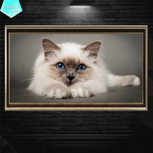 PSHINY 5D DIY Diamond embroidery sale cute cats animal Full drill square rhinestones pictures Painting new arrivals 2019