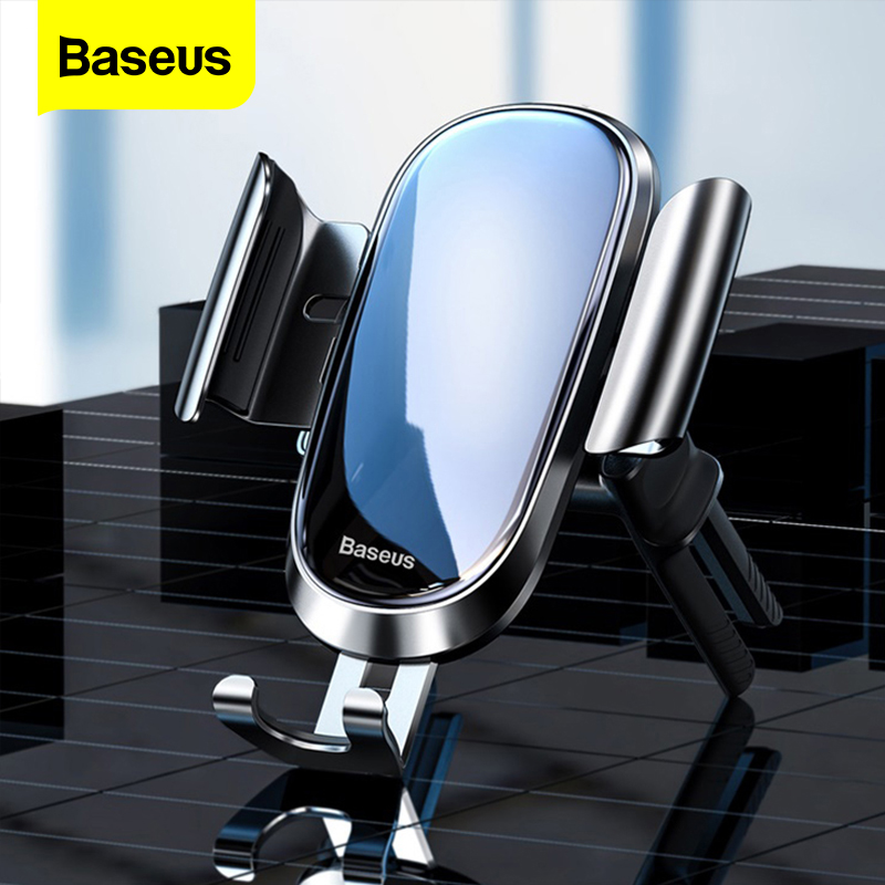 Baseus Gravity Car Phone Holder Round Air Vent Mount Holder For iPhone XS Max Samsung For Mobile Phone Cellphone Holder Stand