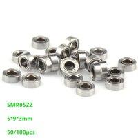 Free shipping 50/100pcs ABEC 5 SMR95ZZ SMR95 ZZ Stainless steel bearing Miniature 5x9x3 mm Deep Groove Ball Bearing 5*9*3mm|Window Rollers| |  -