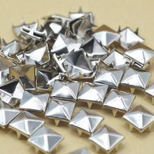 Pyramid Claw Leathercraft Rivets Diy Craft-Accessories Garment Nails Silver KALASO 100PCS