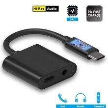نوع C Aux الصوت مهائي كابلات USB C إلى 3.5 مللي متر سماعة جاك PD سريع مهايئ شاحن ل جوجل بكسل 2 الأساسية