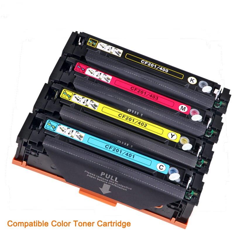 Vilaxh Compatible Color Toner Cartridge M252dn For HP CF401A 402 403A 201A Color LaserJet Pro M252n MFP M277dw M277n M274n
