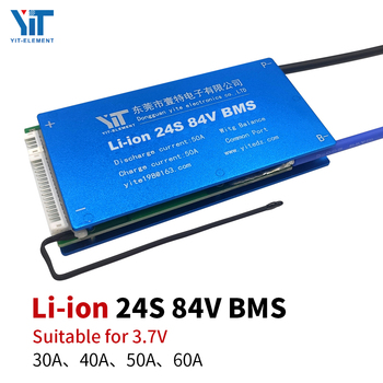 24S 84V Lithium battery 3.7V power protection board temperature protection equalization function overcurrent protection BMS PCB jet city 24s