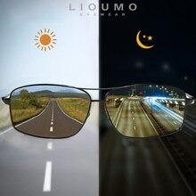 LIOUMO, лучшие фотохромные солнцезащитные очки для мужчин и женщин, поляризованные очки-хамелеоны, очки для вождения, антибликовые солнцезащитные очки zonnebril heren