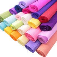 Papel crepé de colores para envolver, rollo de papel arrugado Origami de 50x250cm, para colección de recortes, bricolaje, artesanía de flores, regalo de decoración de fiesta