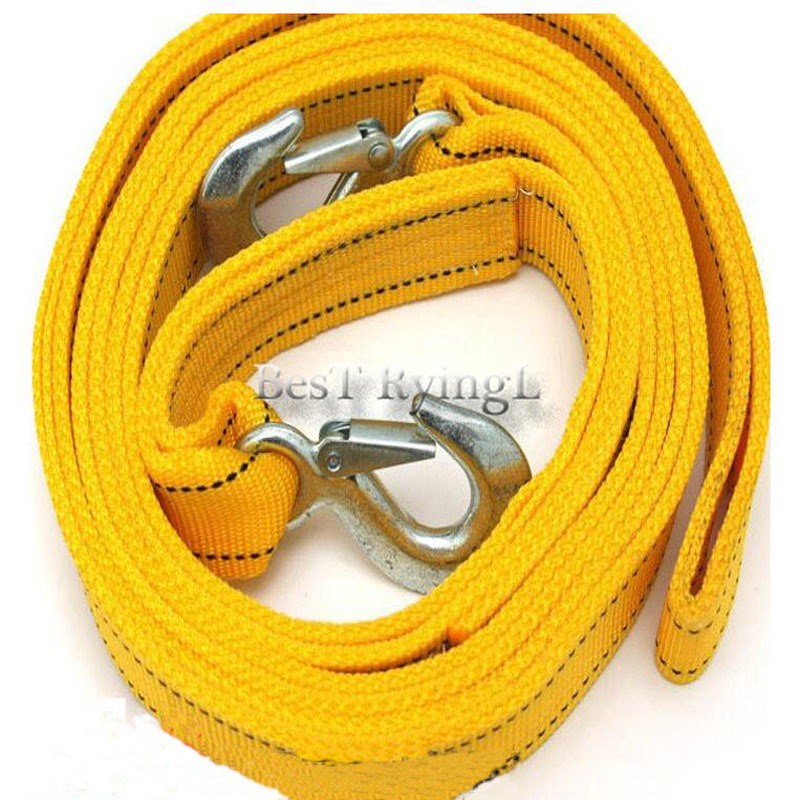 5 Ton 4 Meter Tow Rope For Truck Snatch Strap Off-road Towing Ropes Trailer Winch Cable Belt Car Traction