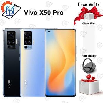 Купить Оригинальный vivo X50 Pro 5G мобильный телефон 6,56 дюймов 8 Гб RAM + 128 ГБ ROM Snapdragon 76 5G 60X Zoom 48.0MP Основная камера NFC Смартфон