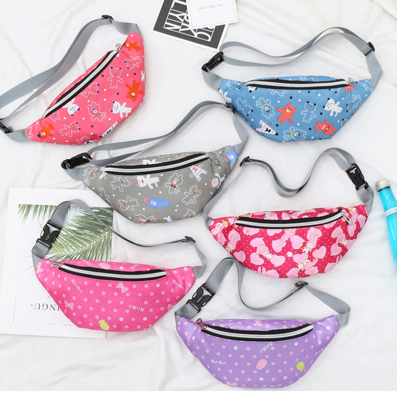 New Cute Waist Bag Women Fashion Belt Bags Children Fanny Pack Boy And Girl Anti-theft Crossbody Bag Phone Purse Waist Pack