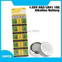 10 шт., щелочные батарейки AG3 LR41 1,55, 392 в, Батарейки Кнопки SR41 192 L736 384 SR41SW CX41 AG 3 для часов и игрушек