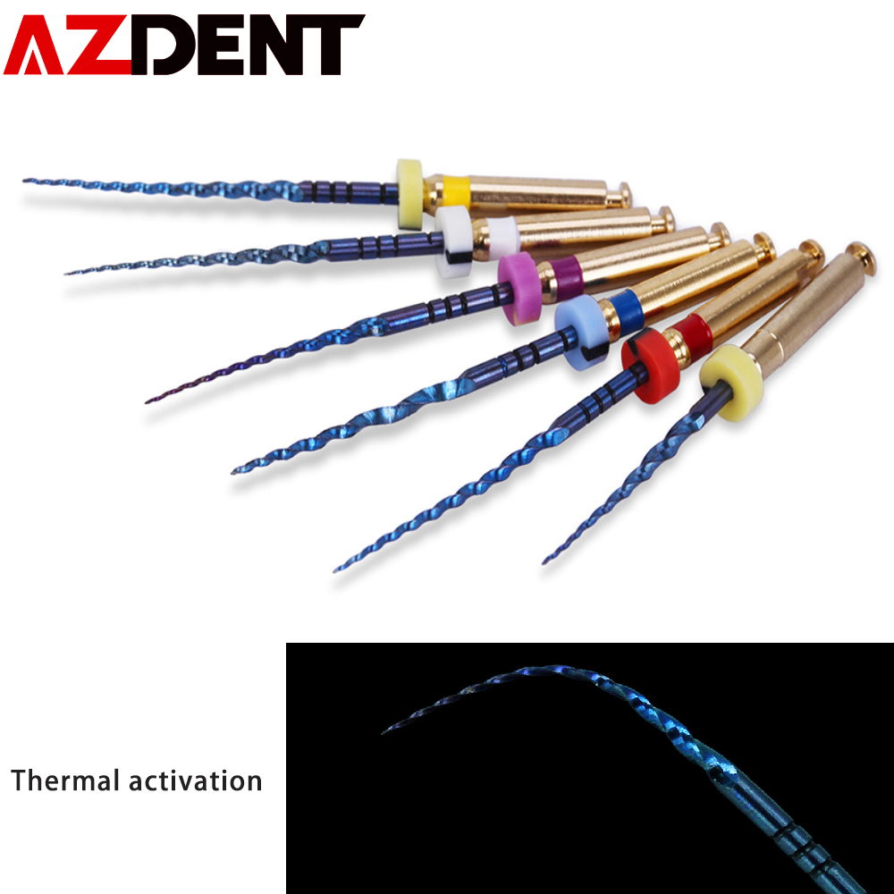 6pcs/pack 25mm,SX Dental Files Root Canal Dental Engine Use Rotary Heat Activated Canal Root Files Endodontic