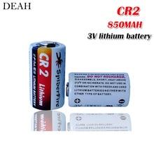 2 шт. 3 в 850 мАч CR2 CR15H270 CR15266 литиевая батарея CR2 для фонарика системы сигнализации дальномер счетчик воды Первичная сухая батарея