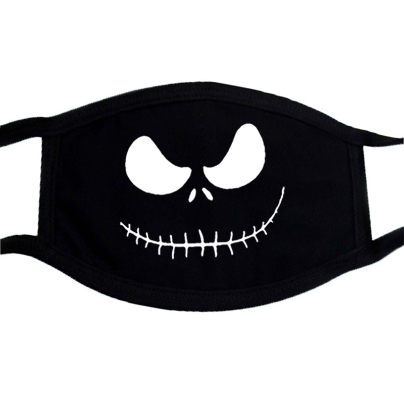 Jack Hip Hop Cartoon Mask Joker Anti-dust Mask Half Face Mouth Muffle Dustproof Masks Black Casual  Warm Unisex Masks