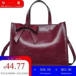 LY. SHARK Новая натуральная кожа сумка женская сумка модная коровья кожа сумка на плечо женский портфель женская сумка-тоут с бантом