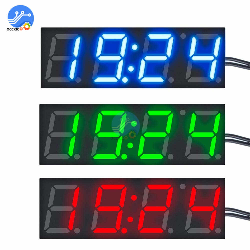 3 In 1 DS3231 Digitale Klok + Thermometer + Voltmeter Module Dc 5-30V Blauw/Groen/ rode Led Display R8025 Tijd Temperatuur Spanning