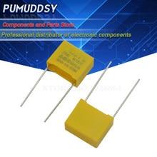 10 pçs 470nf capacitor x2 capacitor 275vac passo 15mm x2 filme de polipropileno capacitor 0.47uf