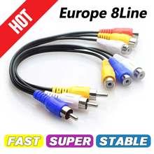 Receptor de TV CCCAM estable, línea de Cable AV en Europa, egygold, 7 líneas, Freesat ccam cline para DVB-S2 Gtmedia v8 nona V8