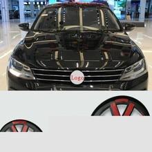 Badge demblème central avant/arrière pour Volkswagen, GOLF 7, Tiguan sagitar, Lamando, MAGOTAN, POLO, BORA, rénovation de voiture, logo, autocollant