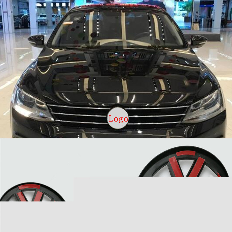 Front /Rear Grille Middle Emblem Badge For Volkswagen GOLF 7 Tiguan sagitar Lamando MAGOTAN POLO BORA car refiting logo Sticker-in Car Stickers from Automobiles & Motorcycles
