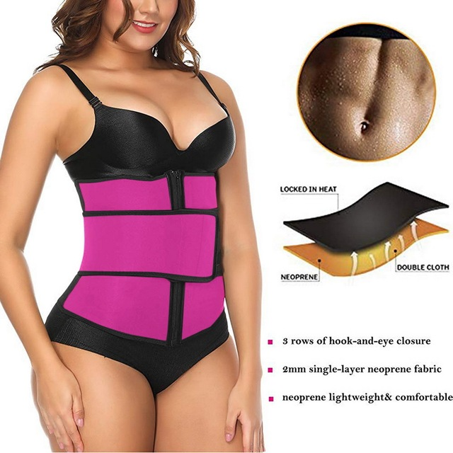 New Control Weight Loss Belt Neoprene Sauna Waist Trainer Corset Sweat Belt For Women Compression Trimmer Workout Fitness 1