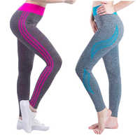 Seamless Leggings Gym Pants For Women High Waist Stitching Workout Tights Running Breathable Sports Pants For Fitness Gym Wear