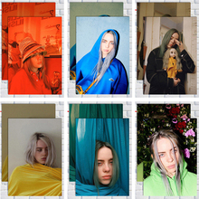 Cosy moment Billie Eilish cartel huellas y cantante de música Pop Star papel Kraft clásico, arte de pared ZS175
