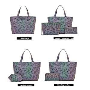 Image 3 - Big Crossbodyกระเป๋าสำหรับผู้หญิงกระเป๋าแฟชั่นชุดและกระเป๋าถือสีส่องสว่างDesigner Totes Holographic Bolsas