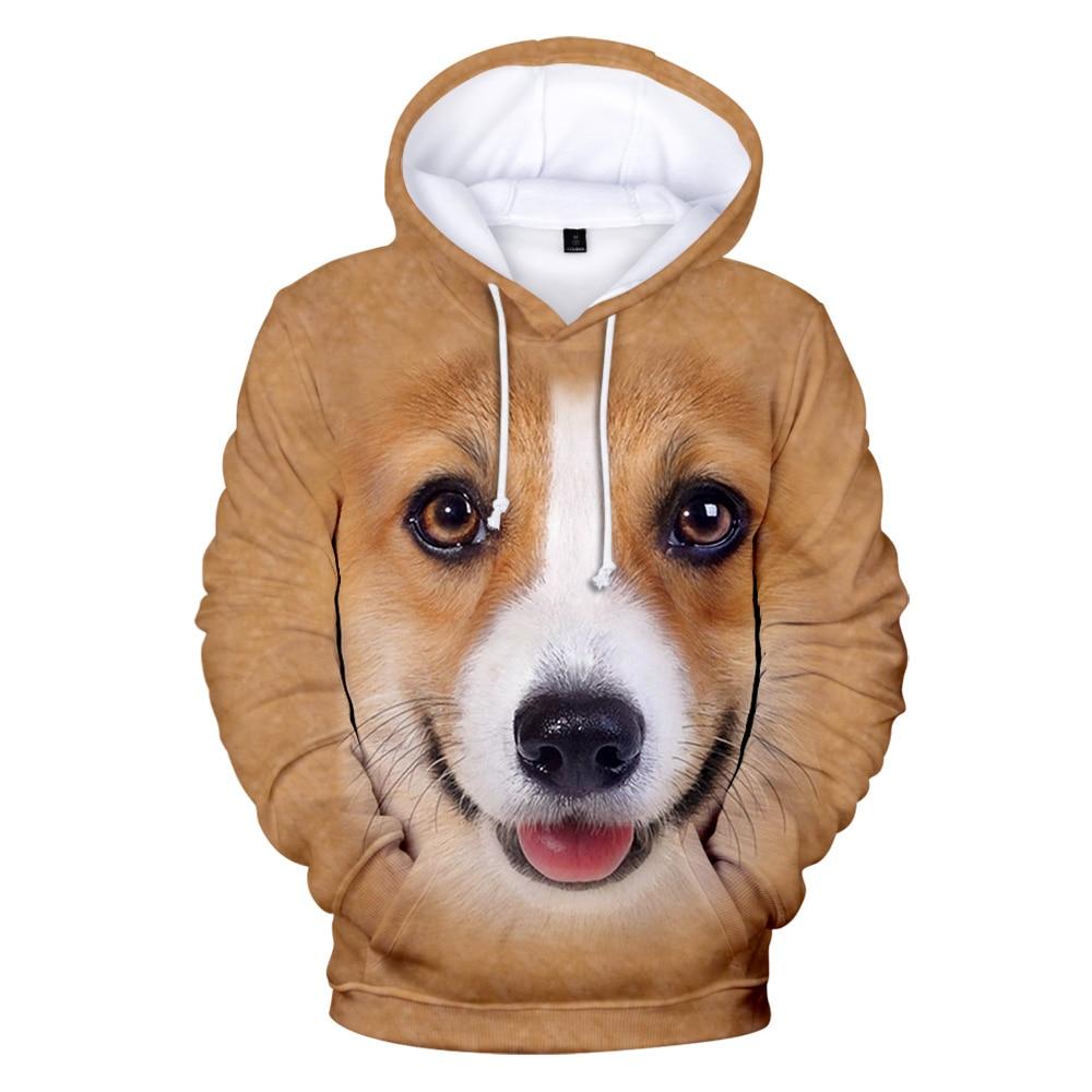 Повседневные толстовки с 3D принтом животных, собак, свитшоты для мужчин и женщин, худи в стиле Харадзюку, Осенние Пуловеры с 3D рисунком живот...