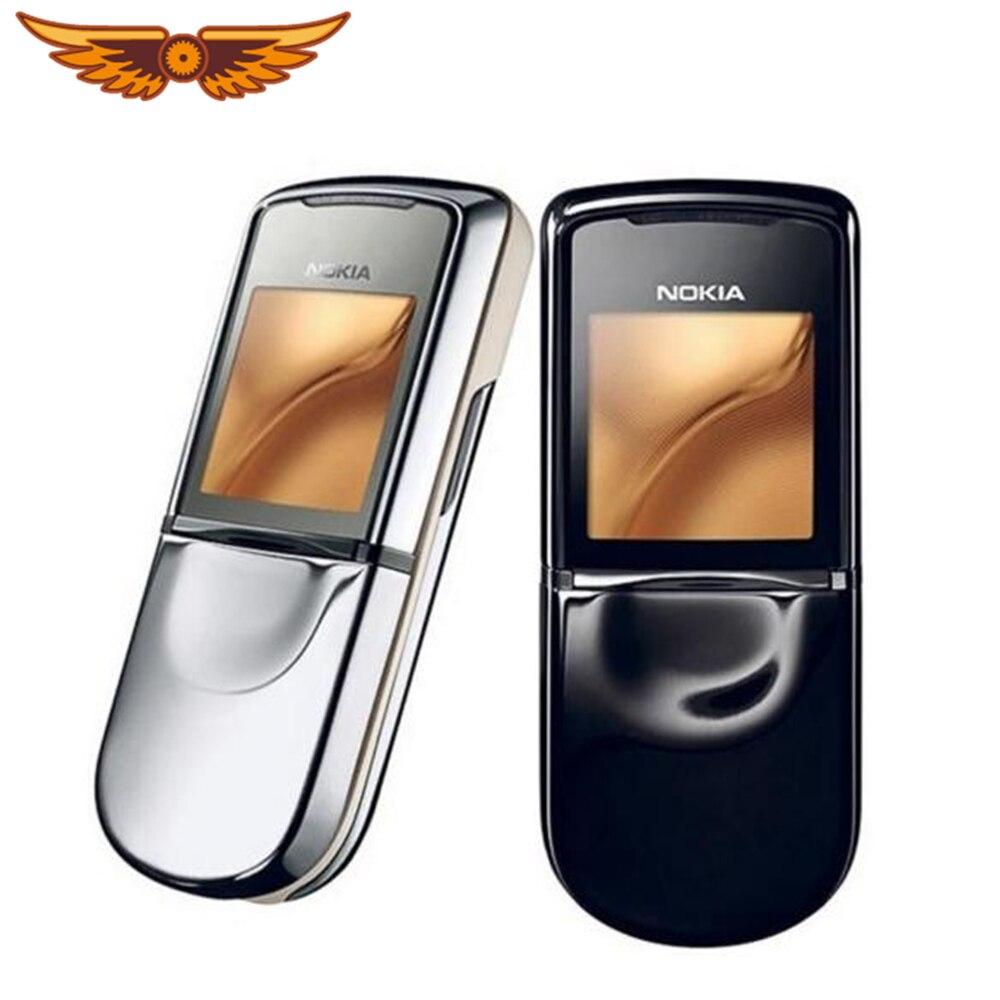 Nokia 8800 sirocco 128MB téléphones anglais/russe clavier GSM FM Bluetooth téléphone or argent noir garantie dun an
