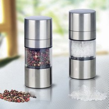 Manual Salt Pepper Mill Grinder Stainless Steel Seasoning Muller Kitchen Tool Accessories Grinding Bottle Spice Sauce Grinder convenient modern stainless steel acrylic pepper spice sea salt mill grinder muller silver