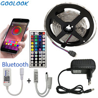 5 м 10 м 15 м Светодиодная лента RGB 5050 SMD гибкая лента светодиод RGBTape диод DC 12 В + Bluetooth управление + адаптер